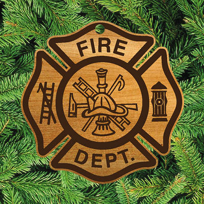 Custom Firefighter Christmas Ornaments