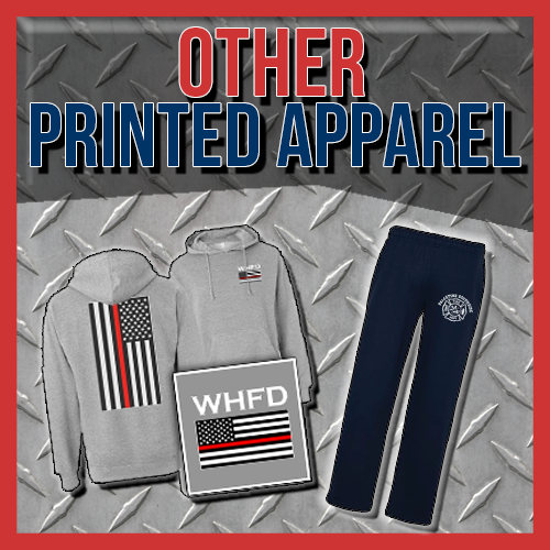 Custom Fire Department Apparel - Printed Sweatshirts and Bottoms