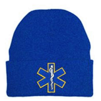 Fire Department Clothing Firefighter EMS Star of Life Beanie Hat Custom Embroidery