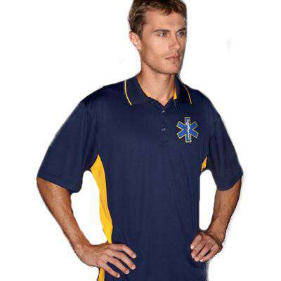 Fire Department Clothing Dri-Fit Polo Moisture Wicking with Custom Maltese or EMS Cross Logo