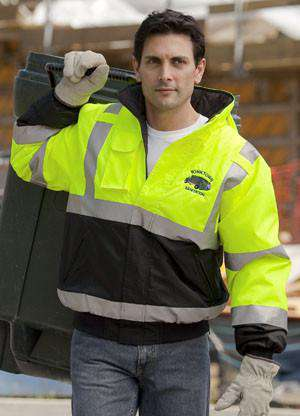 Jacket Hi-Vis Winter Jacket with Hideaway Hood - Game Sportswear - Style 1370Fire Department Clothing