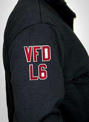 "Customization 2"" Sewn-On Letters for the Right SleeveFire Department Clothing"