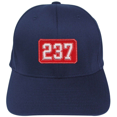 Fire Department Number Shield Flexfit Hat - EMB - Yupoong 6277