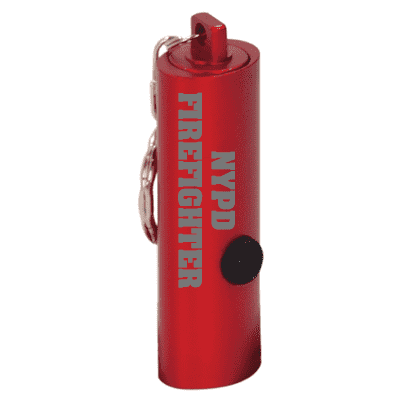 Red 3-LED Laserable Flashlight with Keychain - LZRFire Department Clothing