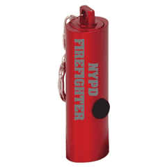 Red 3-LED Laserable Flashlight with Keychain - LZR