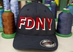 Fire Department 3D Block Letter Flexfit Hat - EMB - Yupoong 6277Fire Department Clothing
