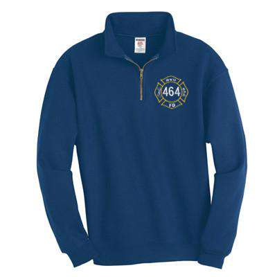 Sweatshirt Super Sweats 1/4-Zip Pullover with Cadet Collar - Jerzees - Style 4528Fire Department Clothing