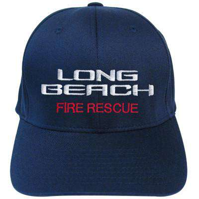 Fire Department Adjustable Beach Style Velcro Hat - EMB - Port & Co. CP80