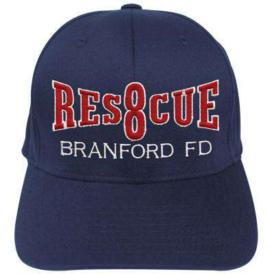 Fire Department Rescue Company Flexfit Hat - EMB - Yupoong 6277