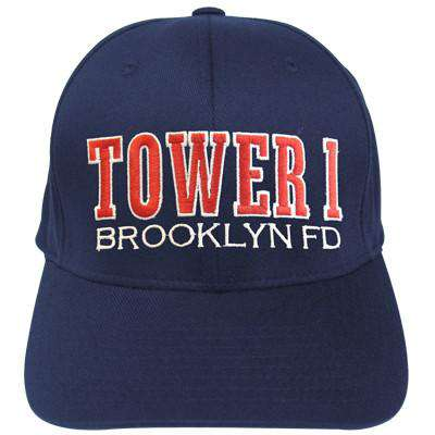 Hat Fire Department Adjustable Tower Company Velcro Hat - EMB - Port & Co. CP80Fire Department Clothing