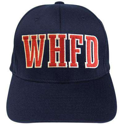 bf24be92b73d0 Fire Department Block Letter Flexfit Hat - EMB - Yupoong 6277