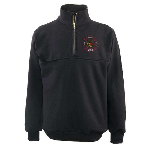 The Firefighter's Zip Turtleneck Work Shirt - Game Sportswear - Style 870-TFire Department Clothing