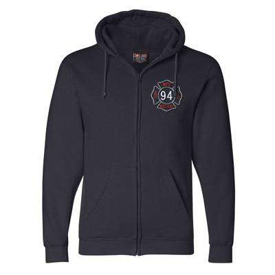 Hooded Full-Zipper Fleece - Bayside Made in the USA - Style 900