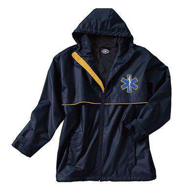 Full-Zip New Englander Rain Jacket - Charles River - Style 9199