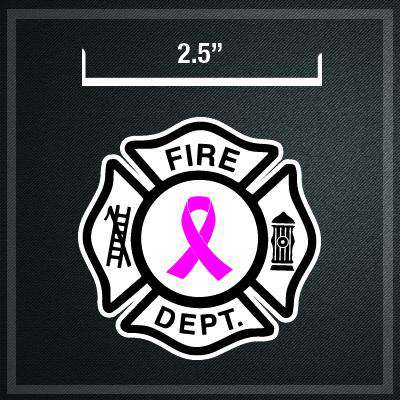 Stickers Digital Fire Department Awareness Ribbon Maltese Decal Set of 3 - DIGFire Department Clothing