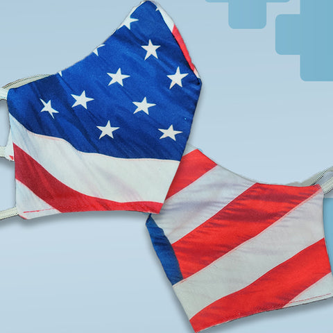 American Flag Face Mask Covering - Made in USA - 100% Cotton - Poppi 2.0 - SUB
