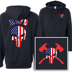 Customization Custom American Skull Sweatshirt - Independent SS4500 - DTGFire Department Clothing