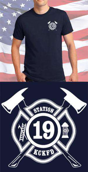 Screen Print Design KCKFD Maltese CrossFire Department Clothing