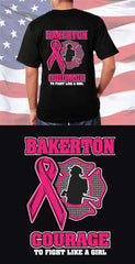 Screen Print Design Bakerton Fire Department Courage to Fight Back DesignFire Department Clothing