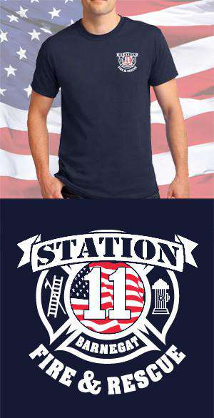 Screen Print Design Barnegat Fire Department & Rescue Maltese CrossFire Department Clothing