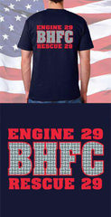 Screen Print Design Barren Hill Fire Company Diamond Plate Back DesignFire Department Clothing