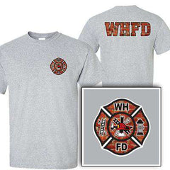 Customization Custom Printed Brick Maltese Pattern T-Shirt - Gildan G200 - DIGFire Department Clothing