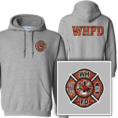 Customization Custom Printed Brick Maltese Pattern Sweatshirt - Gildan G125 - DIGFire Department Clothing