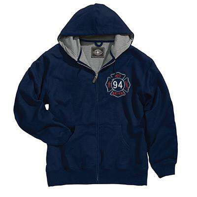 Full-Zip Thermal Sweatshirt [Tall Sizes] - Charles River - Style 9542