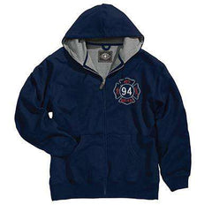 Sweatshirt Full-Zip Thermal Sweatshirt - Charles River - Style 9542Fire Department Clothing
