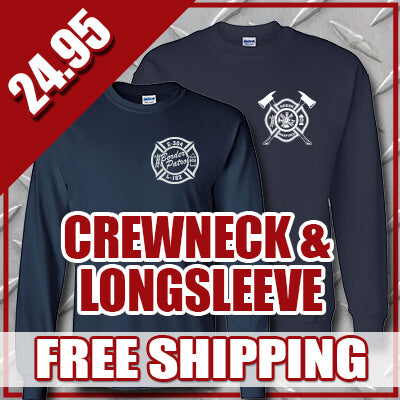 Winter Special - Personal Crewneck Sweatshirt & Longsleeve T-shirt - G120 & G240Fire Department Clothing