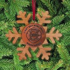 Customization Custom Snowflake Ornament - LZRFire Department Clothing