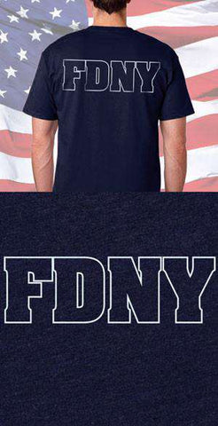 FDNY Outline Back Design
