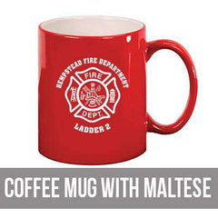 Coffee Mug with Maltese - LMG22 - LZRFire Department Clothing