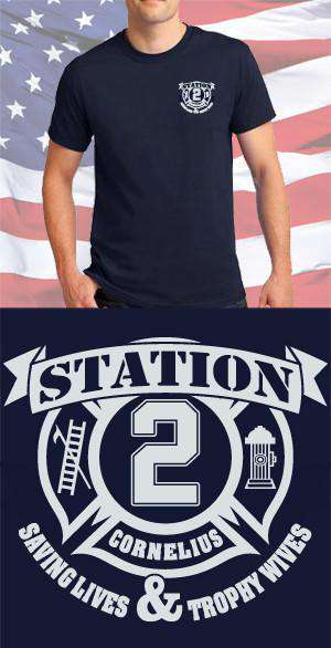 Screen Print Design Cornelius Fire Department Maltese CrossFire Department Clothing
