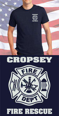 Cropsey Fire Department Maltese Cross