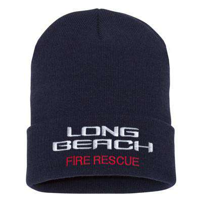 Fire Department Beach Style Winter Hat - EMB