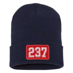 Hat Fire Department Number Shield Winter Hat - EMBFire Department Clothing