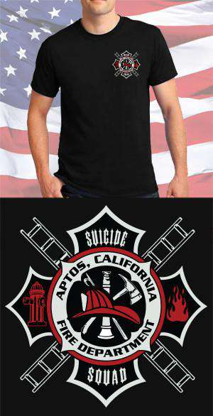 Screen Print Design Aptos Fire Department Maltese CrossFire Department Clothing