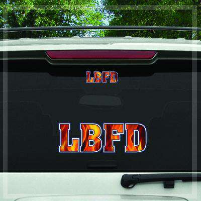 Custom Digital Fire Department Fire Decal - DIG