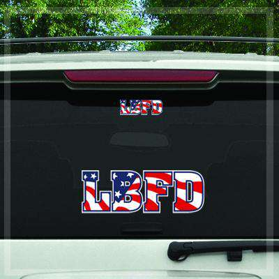 Custom Digital Flag Plate Fire Department Decal - DIG