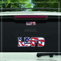 Stickers Custom Digital Flag Plate Fire Department Decal - DIGFire Department Clothing