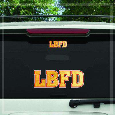 Custom Digital Gold Foil Fire Department Decal - DIG