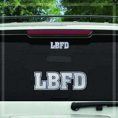 Custom Digital Silver Foil Fire Department Decal - DIG