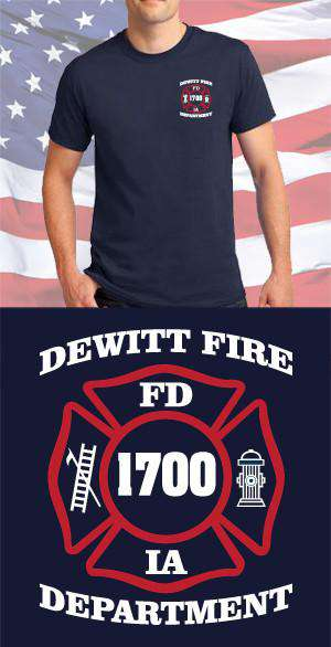 Screen Print Design DeWitt Fire Department Maltese CrossFire Department Clothing