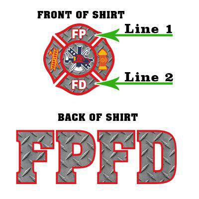 Customization Custom Printed Diamond Plate Maltese Pattern Sweatshirt - Gildan G125 - DIGFire Department Clothing