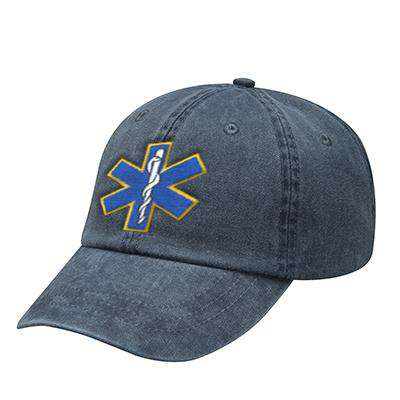Off-Duty EMS Star of Life Pigment Dyed Cap - Adams - AD969