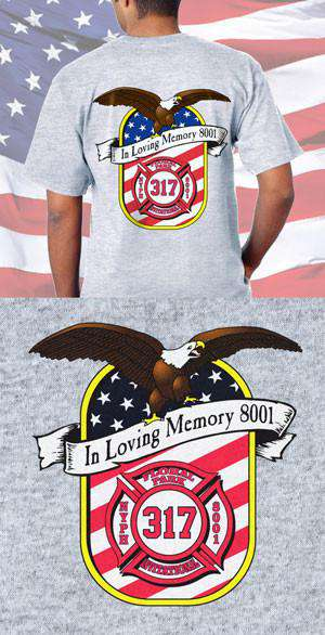 Screen Print Design Floral Park Fire Department Memorial Back DesignFire Department Clothing
