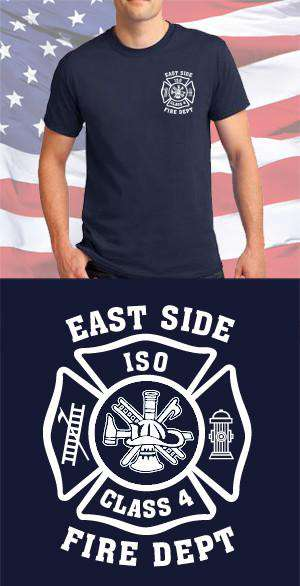 Screen Print Design East Side Fire Department Maltese CrossFire Department Clothing
