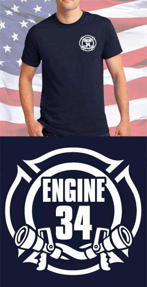 Screen Print Design Engine 34 Maltese CrossFire Department Clothing
