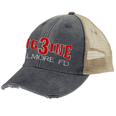 Off-Duty Engine Company Ollie Cap - Adams OL102 - EMBFire Department Clothing